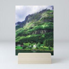 The Church on the Fjord (Norway)  Mini Art Print