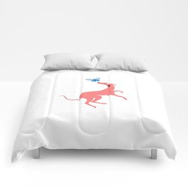 Pink Whippet Comforters