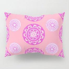 Salmon, Pink, and Purple Patterned Mandalas Pillow Sham
