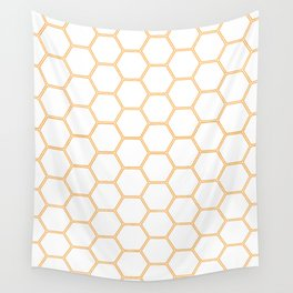 Honeycomb Orange #271 Wall Tapestry