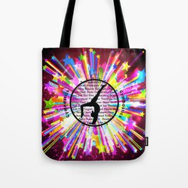 rainbow star gymnast Tote Bag
