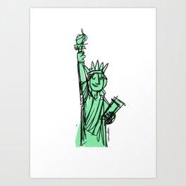 Liberty Statue Art Print