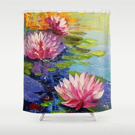 Pond and Lily Shower Curtain