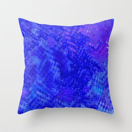 Blue Abstract Throw Pillow