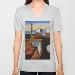 THE PERSISTENCE OF MEMORY - SALVADOR DALI Unisex V-Neck