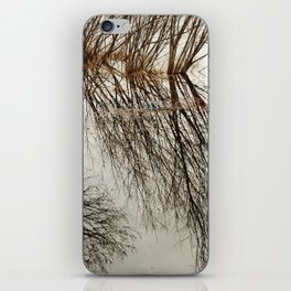 Willow tree reflection iPhone Skin