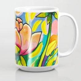 Peach & Pink Peonies Coffee Mug