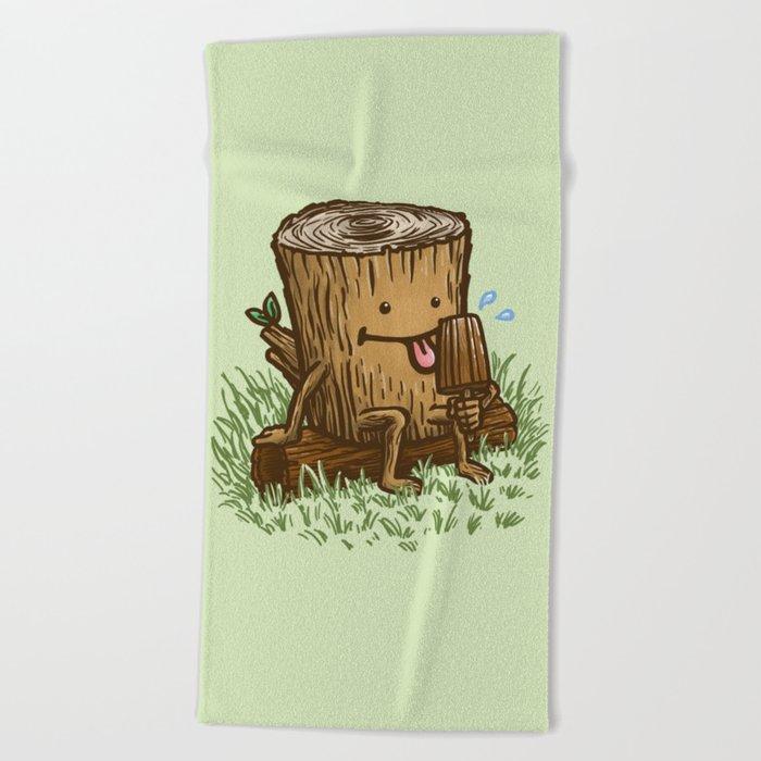 The Popsicle Log Beach Towel