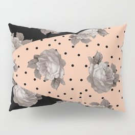 Roses and Peach Pillow Sham