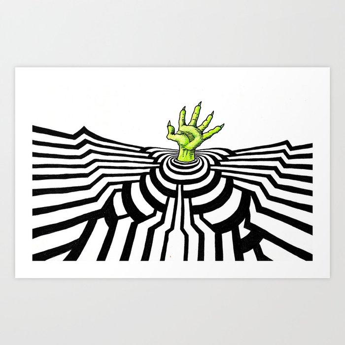 Ripplescape #1 Art Print