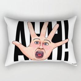 Five Fingered Face Rectangular Pillow