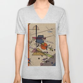 Abstract Composition 522 Unisex V-Neck