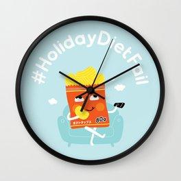 Holiday Diet Fail Wall Clock
