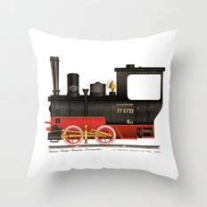 Locomotive  Throw Pillow