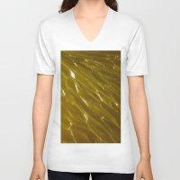 orange pattern V-neck T-shirts featuring Orange pattern by Svetlana Korneliuk