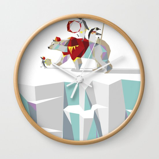 Private Penguin's Polar Percussion Wall Clock