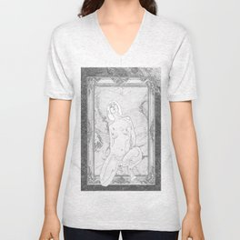 Out of the picture frame(trompe l'oeil ) Unisex V-Neck