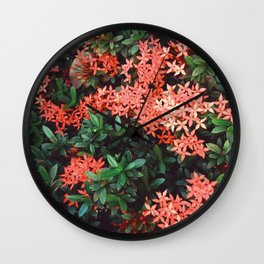 West indian Jasmine Wall Clock