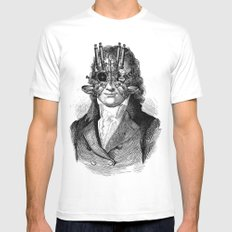 Steampunk Mens Fitted Tee White MEDIUM