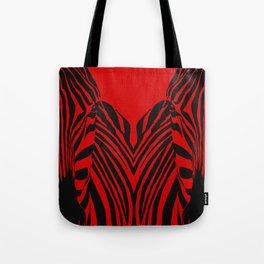 Art print: Zebra pop art (red) Tote Bag