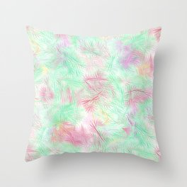 Tangled Green Fireworks Throw Pillow