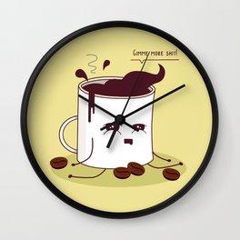 Coffee Mug Addicted To Coffee Wall Clock
