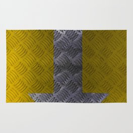Industrial Arrow Tread Plate - Down Rug