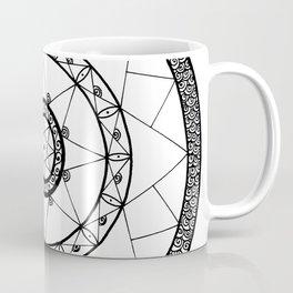 Zen Star Mandala - White Black - Square Coffee Mug