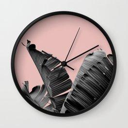 Banana Leaf, Tropical Wall Clock