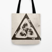 triangle Tote Bags featuring TRIANGLE by Ali GULEC