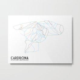 Cardrona, Wanaka, NZ - Minimalist Trail Art Metal Print