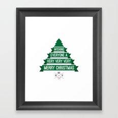 Merry Wishes Framed Art Print