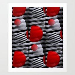 3D - abstraction -38- Art Print