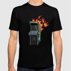 Arcade Fire MEDIUM Black Mens Fitted Tee