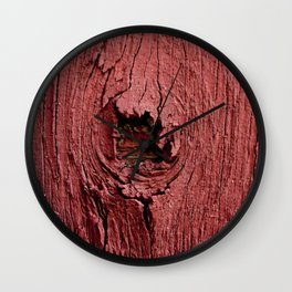 Knotty Red Wall Clock