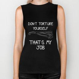 Torture Yourself BDSM Dom Master Dominatrix Biker Tank