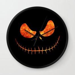 Jack Skellington Halloween Smile Flame Wall Clock