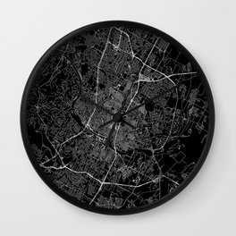 Austin Black Map Wall Clock