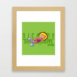 DJ Candy as Bulma (Dragon Ball) Framed Art Print