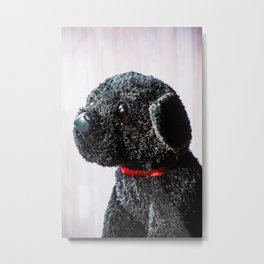 Stuffed Animal Puppy Portrait Metal Print