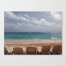 View from the Beach Canvas Print