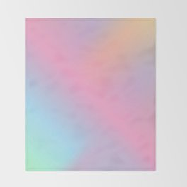 Abstract aurora pink teal lavender blue watercolor gradient Throw Blanket