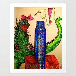Godzilla boner Art Print