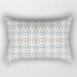 Criss Cross Weave Hand Drawn Rectangular Pillow
