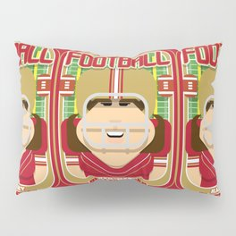 American Football Red and Gold - Hail-Mary Blitzsacker - June version Pillow Sham