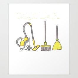 Tonight We Fly Broomsticks Vacuum Funny Halloween product Art Print