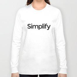 Simplify Long Sleeve T-shirt