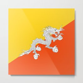 Bhutan Flag Metal Print