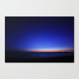 10mm Cresent Moon & Venus. Canvas Print