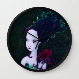 Mermaid & Mr Bubbles Wall Clock